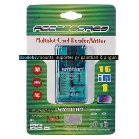 Gravador Leitor De Cartão De Memória Usb Pro Duo Sd M2 Micro