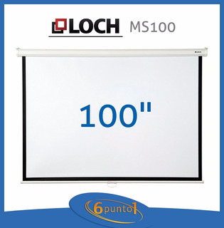 Pantalla Para Proyector Loch Ms 100 Sr - Manual - Recoleta
