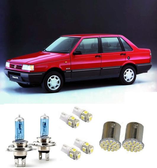 Kit 8 Lampadas Farol +placa+lanterna +ré Fiat Premio 85 A 94