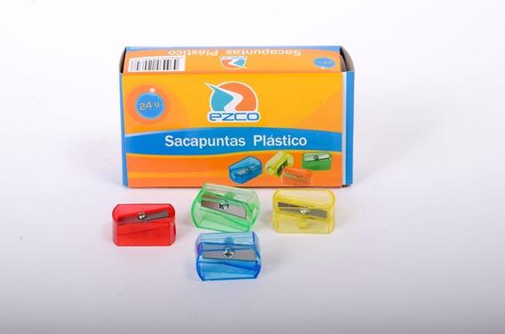 Sacapuntas Saca Puntas Plastico Caja X 24 Unidades