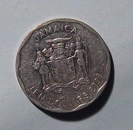Jamaica 10 Dolares 2008 Exc Km 190