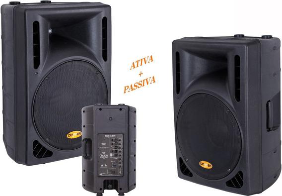 Kit Caixa Ativa + Caixa Passiva 600 W Rms Cl300 300+300w Nca