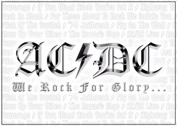 Poster Banda Ac Dc 60cmx84cm Cartaz Ac/dc Decorativo Hd Rock