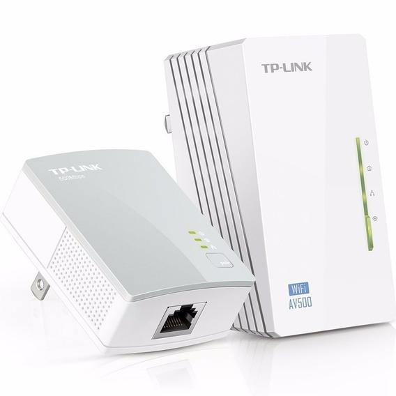 Extensor Rango Powerline Wifi Av500 A 300 Mbps Kit Tp Link