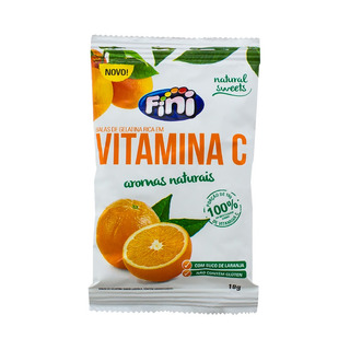 Balas De Gelatina Fini Natural Sweets Vitamina C 18g