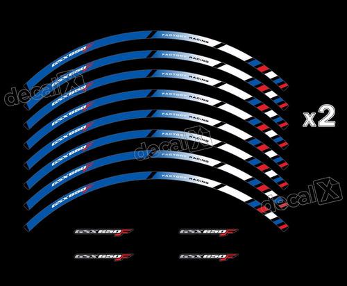 Kit Adesivo Friso Refletivo Roda Moto Suzuki Gsx 650f Fri58