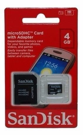 Cartão Sdhc 4 Gb - Sandisk