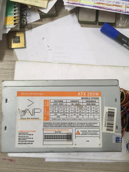 Fonte Atx 24pinos Sata Vaip Model Vp200s 200w