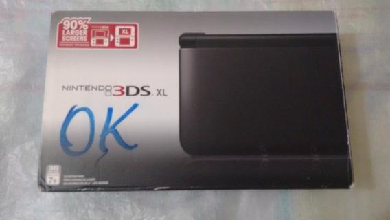 Caixa Para Nintendo 3ds Xl Americano Black