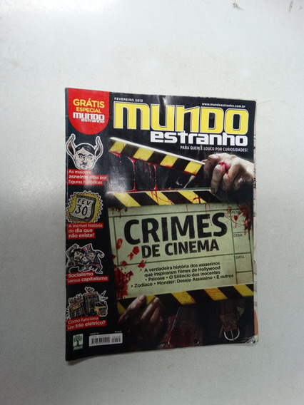Mundo Estranho Nº 135! Crimes De Cinema! Fev 2003!