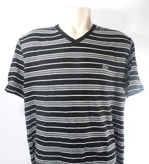 Camisa Lacoste Masculina Preta E Branca Original