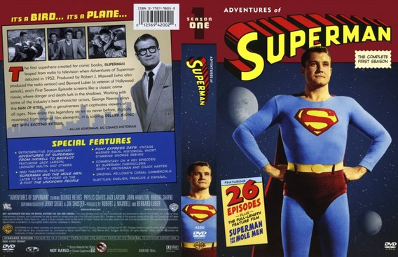 Dvd As Aventuras De Superman ( 6 Temporadas ) George Reeves