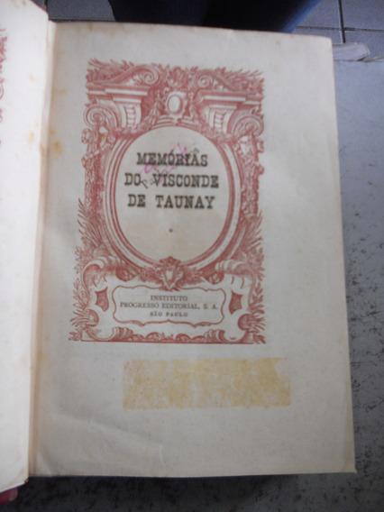 Livro Memórias De Visconde De Taunay 1948