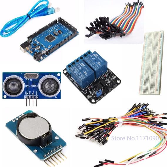 Kit Básico Para Arduino Mega + Sensor + Time Clock + Relé