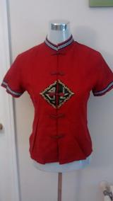 Blusa Lino Roja Mao