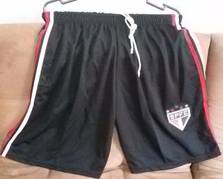 Calção Shorts De Times De Futebol - São Paulo (preto)