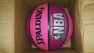 Balon De Basket Spalding Rosado Con Fucsia Traído De Usa