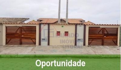Casa No Litoral De Itanhaém 2 Dormitórios, Use Fgts