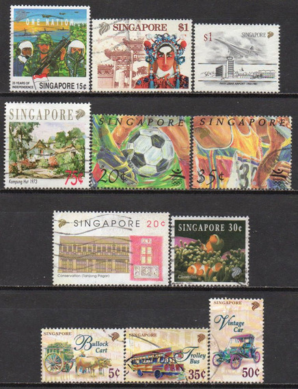 Cingapura - 1990-97 - Lote 11 Selos Diversos