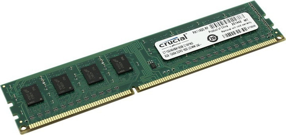 Memoria Pc Ddr3 1600mhz Crucial 8gb Dimm 240 Pc3-12800 Royal