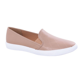 Tenis Eco Napa Antique - Suede Nude New Via Uno