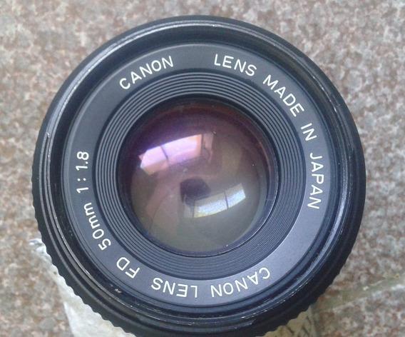 Lente Canon 50mm F1.8 Mecânica