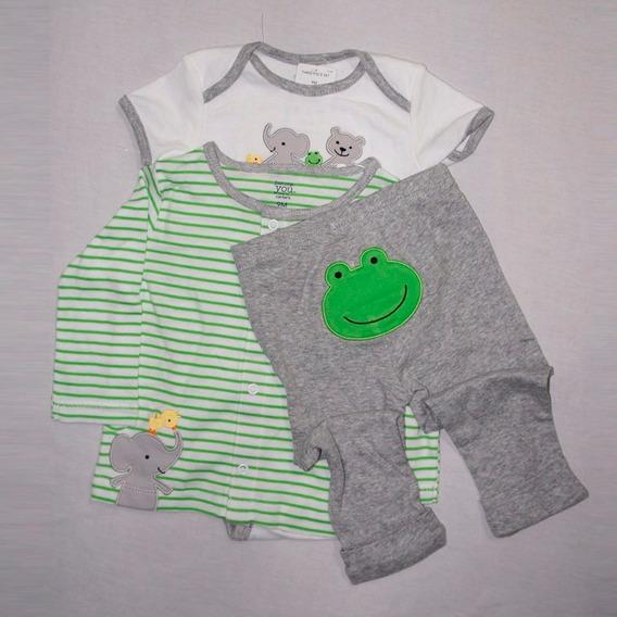 Conjunto Bebê Conjunto Bebê 2 Camisetas E Calça Carter
