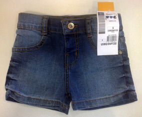 Shorts Puc Jeans Bebê Feminino - Cód. 1822
