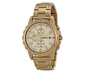 Relógio Feminino Fossil Dean Fs48674xn - Dourado Aço Inox