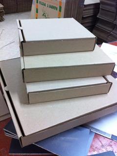 Caja Pizza..hexagonal .ecologicas,30x30..tu Logo,blancas