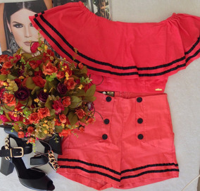 Short E Cropped Coral P