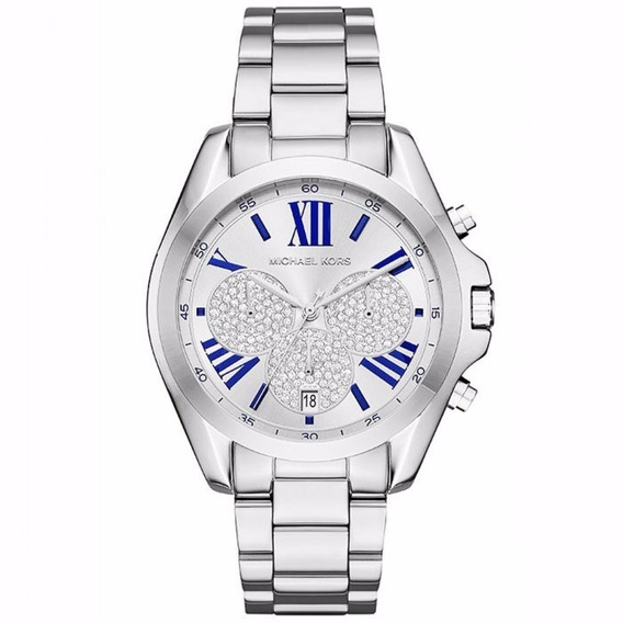 Relógio Michael Kors Feminino Bradshaw Mk6320/1kn Prata Off
