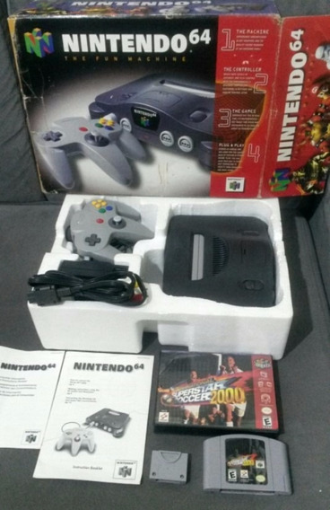Nintendo 64 Completo Com Caixa Original + Memory Card