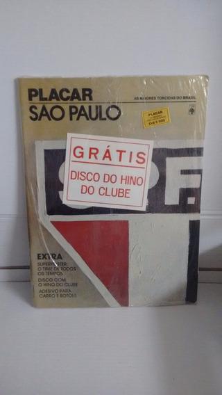 Revista Placar São Paulo Extra Superposter Disco E Adesivos