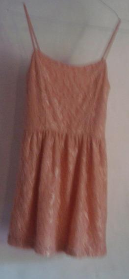 Vestido Mini De Encaje Forever 21, Color Salmon,art 72