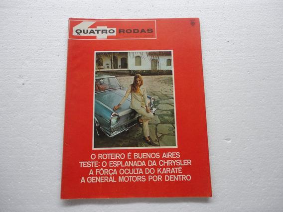 Revista 4 Rodas Antiga 1967 Poster Cadilac/simca Esplanada