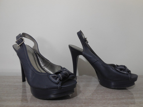 Pep Toe | Scarpin | Sapato Feminino Tam 37 Azul Marinho