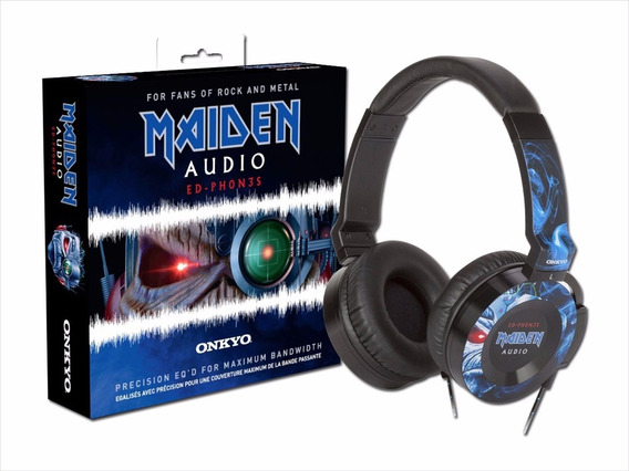 Iron Maiden Eddie Headphone Fone Onkyo Ed-ph0n3s Oficial Imp