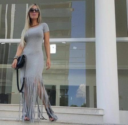 Blusa Franja Top Saida De Praia Vestido Luxo Verão 2016 2700