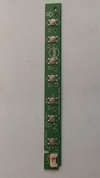 Placa Teclado Funções Sensor Painel Aoc Lc32d1320