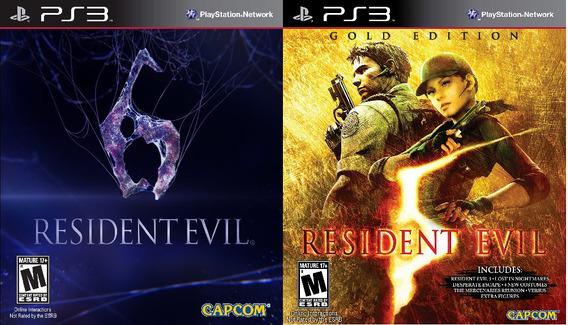 Resident Evil 6 + Resident Evil 5 Ps3 Psn - Midia Digital