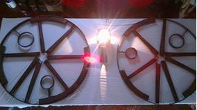 Luminária De Rodas De Carroça: Fragmento Do Tempo 1