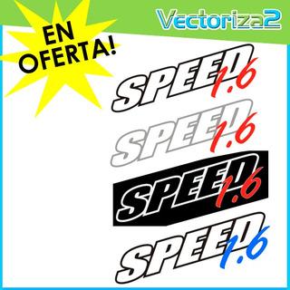 Calcomania Speed Corsa 1.6