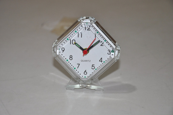 Relógio Despertador À Pilha C/ Base (pezinho) - Na Caixa