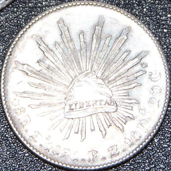 Aaaa 1891 8 Reales Zs Rara Moneda Mexicana Peso Ms Plata Iaz