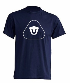 Camiseta Pumas Estampada / Azul Blanco