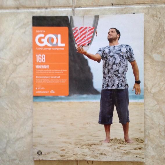 Revista Gol N168 Surfista Mineirinho Pernambuco É Animal