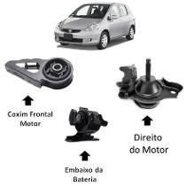 3 Calço Coxim Motor Câmbio Honda Fit 2003 .. 2008 Automatico