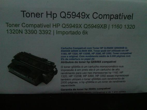 Cartucho Toner Compatível Q5949x Hp49x 1320 1160 5949x 49x