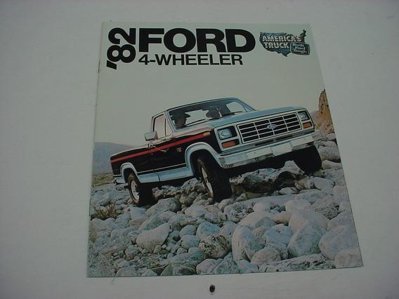 Folder Ford F100 F-100 Pickup Picape 82 1982 F150 Traçao 4x4